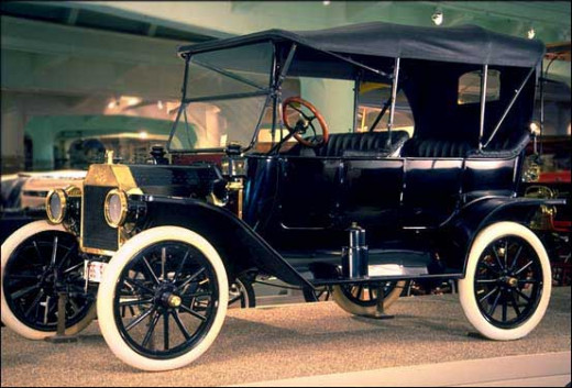 Model T manufactured by Henry Ford in 1908