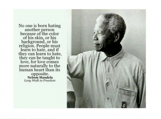 Photo taken while Mandela was in prison; he was imprisoned for 27 years before being released unconditionally in 1990.