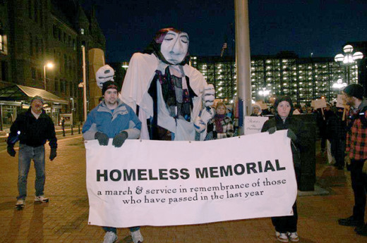This is a sobering reminder of the fact that many homeless die and nobody seem to notice.