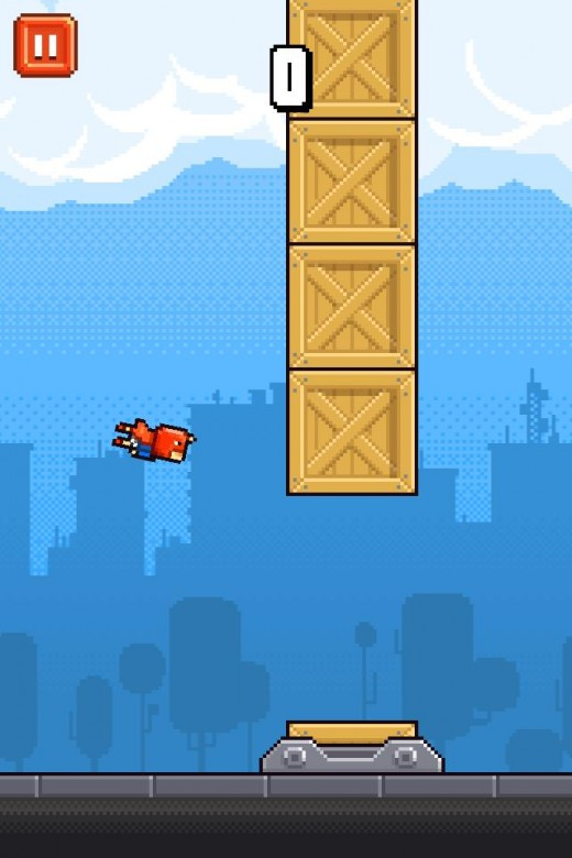 Iron Pants is similar to Flappy Bird but is a lot more difficult to control.