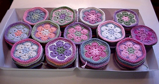 Crochet African Flowers for Afghan