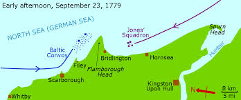 Map of the engagement off Flamborough Head, September 23rd, 1779