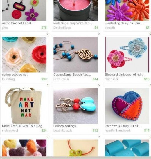 Search Etsy not only for handmade product, but for the supplies to make these crafts yourself.
