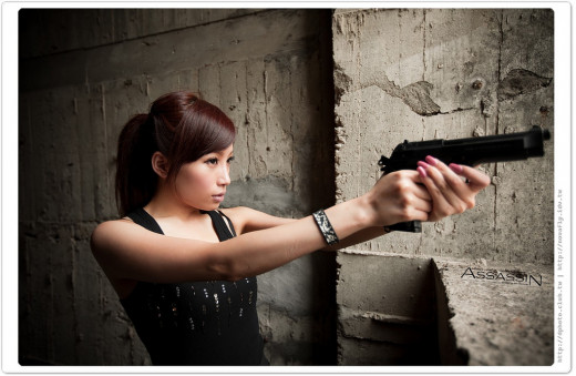 While television, cinema and video games, have ingrained the image of a professional sexy female assassin in popular culture, in reality almost every contract killing currently recorded has been perpetrated by a male.