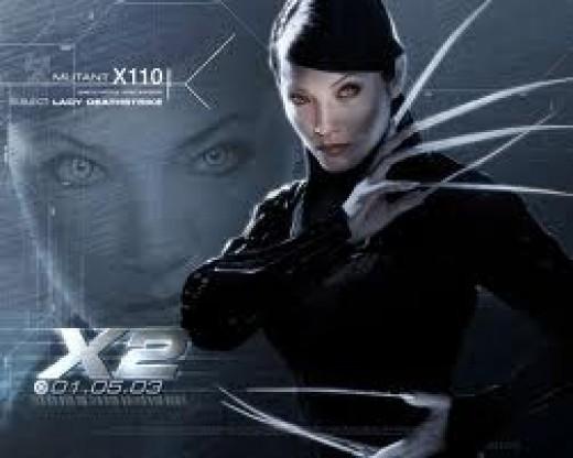 Lady Deathstrike as featured in X-Men 2