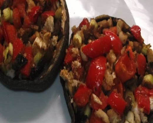 Portobello Stuffed Mushrooms. Delicious!