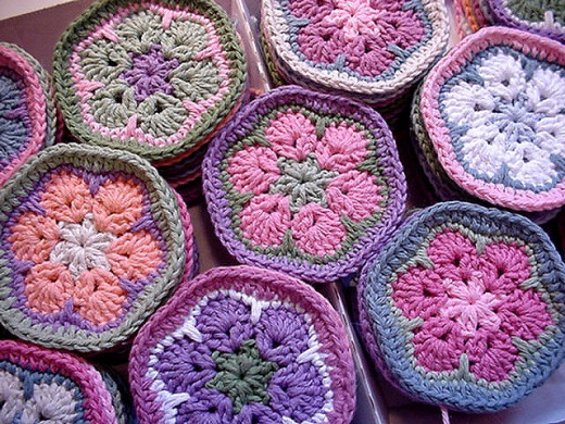 Pastel African Flower Motif