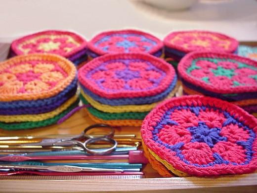Crochet African Flower Motifs