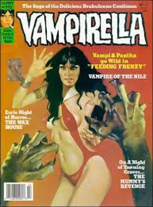 The rare cover of Vampirella # 113