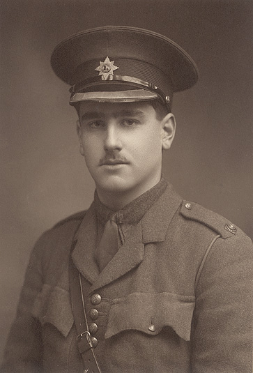 John Kipling, the officer son of Rudyard Kipling, who was tragically killed at the Battle of Loos in 1915.