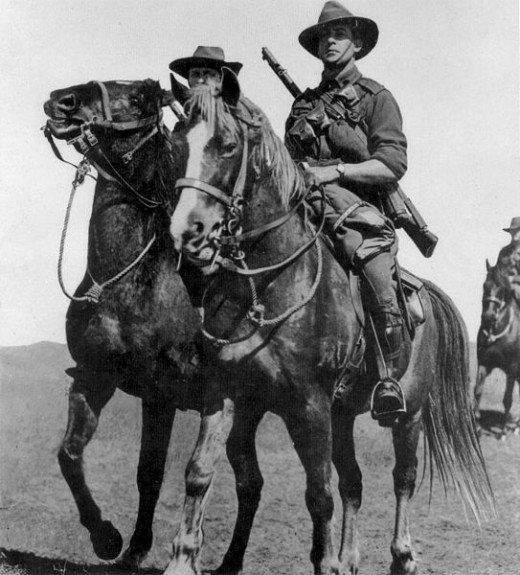 At the start of the war, mounted cavalry (above) was still very common. But their days as a fighting force were numbered.