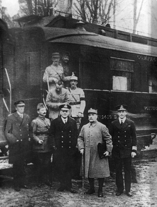 This train carriage in Compiegne, France was the scene of the 1918 German armistice. Ironically Hitler accepted the 1940 French armistice in the very same carriage.