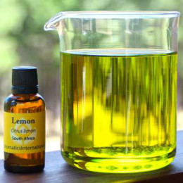 Mix essential oil with a carrier oil