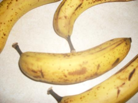 well ripened, spotted and sweet bananas