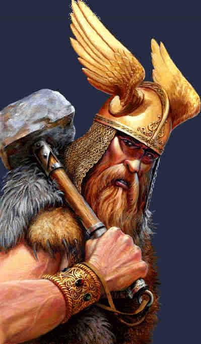 The Viking God Thor.