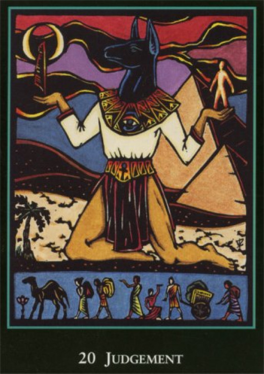 "An Egyptian ""World"" Tarot card."