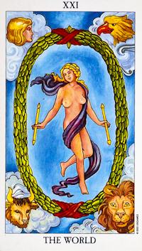 """The most common """"World"""" Tarot card."""