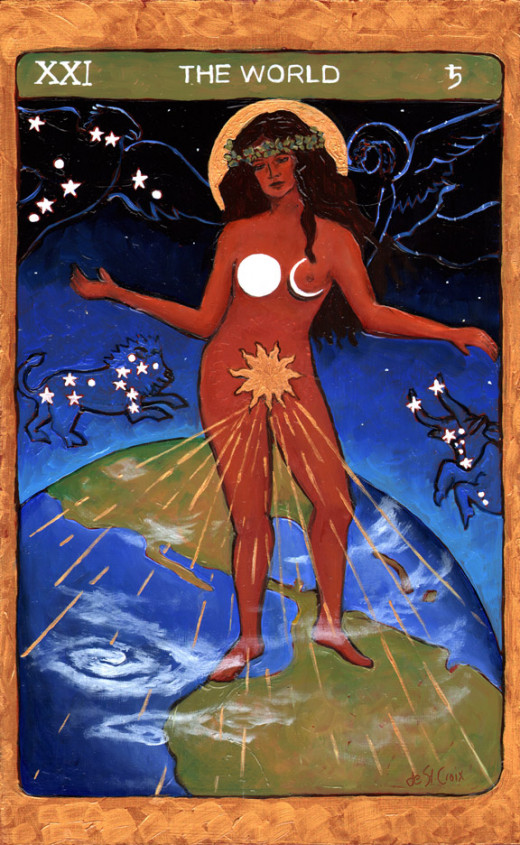 "A Native American ""World"" Tarot card."