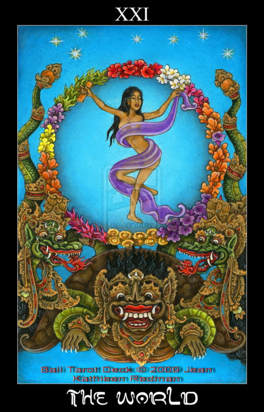 "A Hindu ""World"" Tarot card."