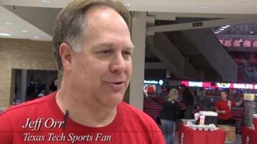 Texas Tech basketballs super fan
