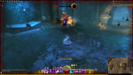 Third room, fight oozes, loot chest to the left, behind the Veteran Red Ooze.