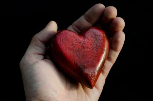 Image of heart in hands.