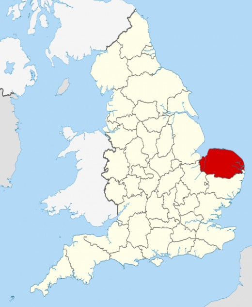 The site of the novel Norfolk County, England.