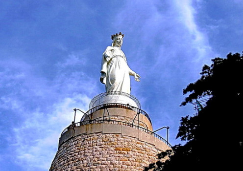 Shrine of our Lady of Lebanon. The Lebanese Christians as well as the Muslims have a special devotion to the Blessed Virgin Mary.