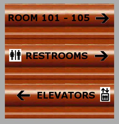 Corrugated Plastic Directional Sign