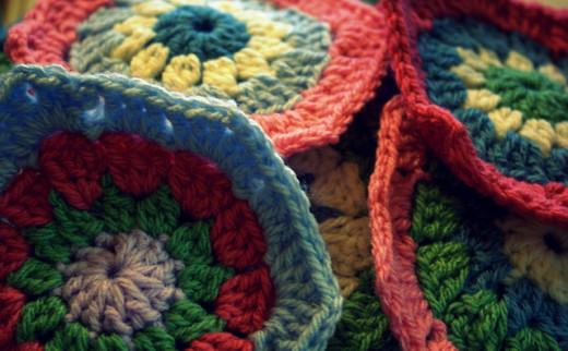 Hexagon Crochet Motifs
