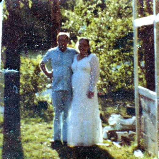 This is a photo of my parents on their wedding day.