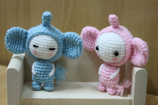 Crocheted toys (amigurumi) might make great gifts for the children in your life!