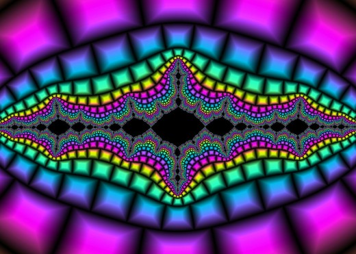 Rainbow fractal with black background. Full-size: http://hubpages.com/u/8728865.png