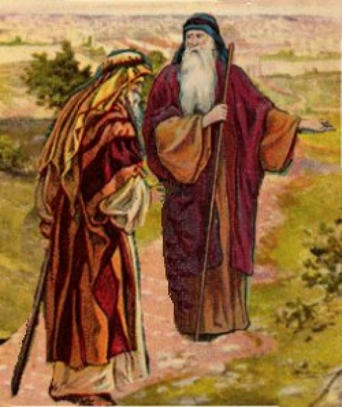 ABRAHAM AND ELIEZER TALKING