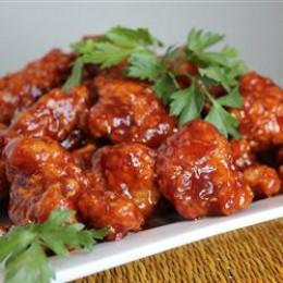 This is not your regular hot & spicy chicken and its not out of a jar either the sauce is a Asian blend that that is made from scratch so get out your cooking equipment and try this tasty dish.