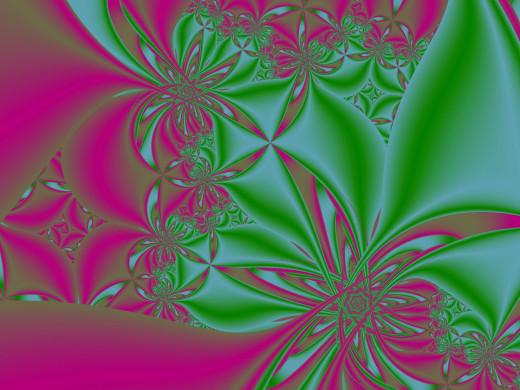 Magenta and green fractal. Full-size: http://hubpages.com/u/8729433.png