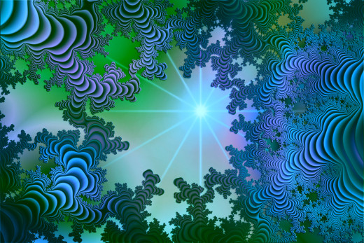 Blue and green fractal. Full-size: http://hubpages.com/u/8732009.png