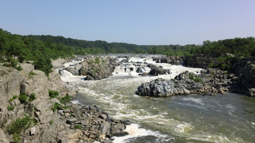 Great Falls on the Potomac River - Maryland is to the right in the photo