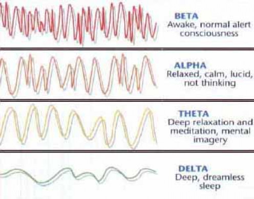 Types of brianwaves during meditation