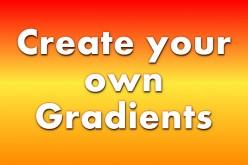 Create custom gradients in GIMP 2.8