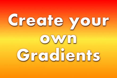 Create your own gradients in GIMP 2.8
