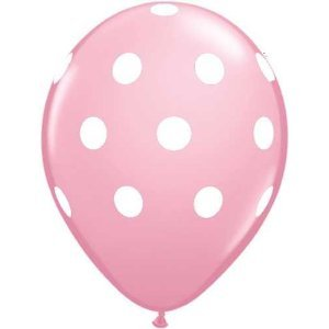 Use a variety of lark and dark pink, purple, lavender, and white balloons.