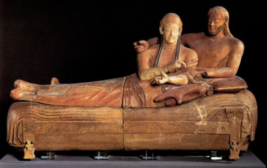 Etruscan Couple Sarcophagus, Terracotta, Late 6th Century B.C.