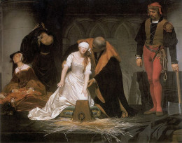 Lady Jane Grey panicked when she couldn't find the block to lay her head.