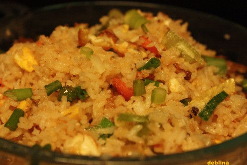 A wilder version of Chinese Fried Rice is Burnt Garlic Fried Rice