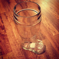 The trick to drinking out of a beer boot is to point the toe of the boot to either your left or right side to prevent air bubbles from forming in the toe of the boot.