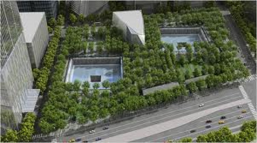 A Garden of Forgiveness at Ground Zero in New York City, NY