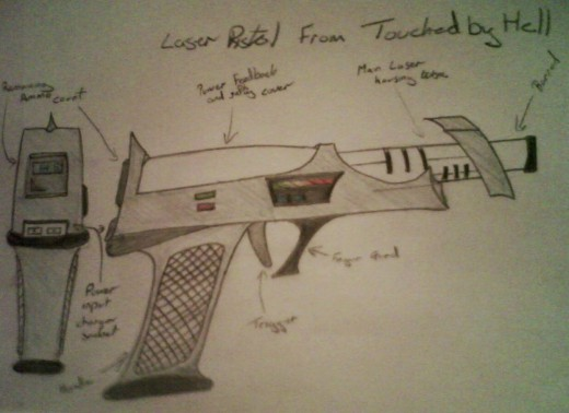 The laser pistol used in the book