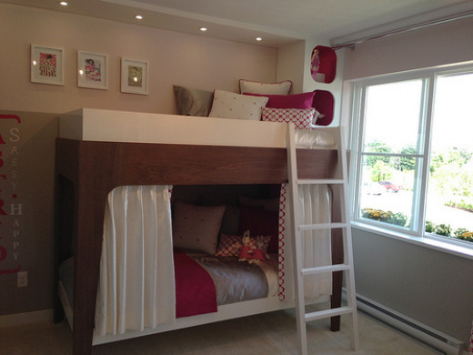 Bunk beds for girls sharing a room.