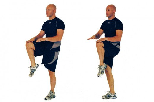 Proper knee elevation for High knees.